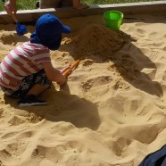 Our new sandpit